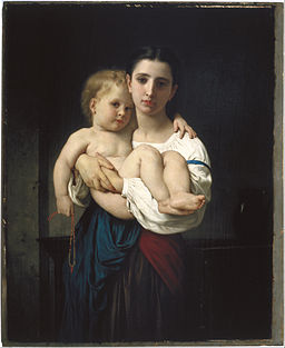 William Bouguereau - The Elder Sister, reduction (La soeur aînée, réduction) - Google Art Project
