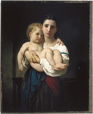 William H. Herriman - Image: William Bouguereau The Elder Sister, reduction (La soeur aînée, réduction) Google Art Project