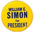 William E. Simon for President button.jpg