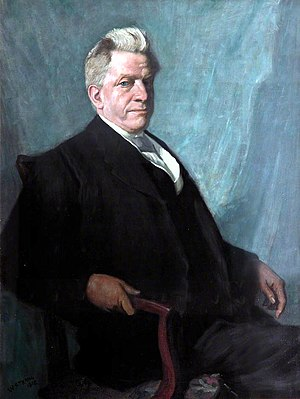 Leverhulme Trust - William Hesketh Lever, 1st Viscount Leverhulme (1851–1925), painting by William Strang († 1921), 1918. University of Liverpool Art Gallery and Collections.