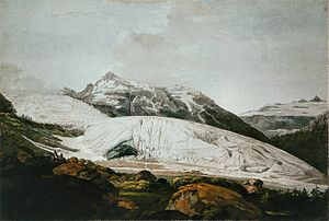 William Pars - Rhone Glacier Ca. 1770-71, watercolour)