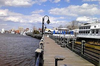 Riverwalk - The Wilmington Riverwalk in Wilmington, North Carolina, on the Cape Fear River