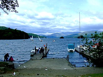 Bowness-on-Windermere - View of Windermere from Bowness-on-Windermere