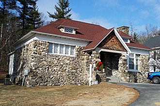 National Register of Historic Places listings in Rockingham County, New Hampshire - Image: Windham NH Armstrong Memorial Hall
