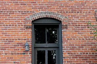 North Wisconsin Lumber Company Office - Image: Window and Brick detail, North WI Lumber Co