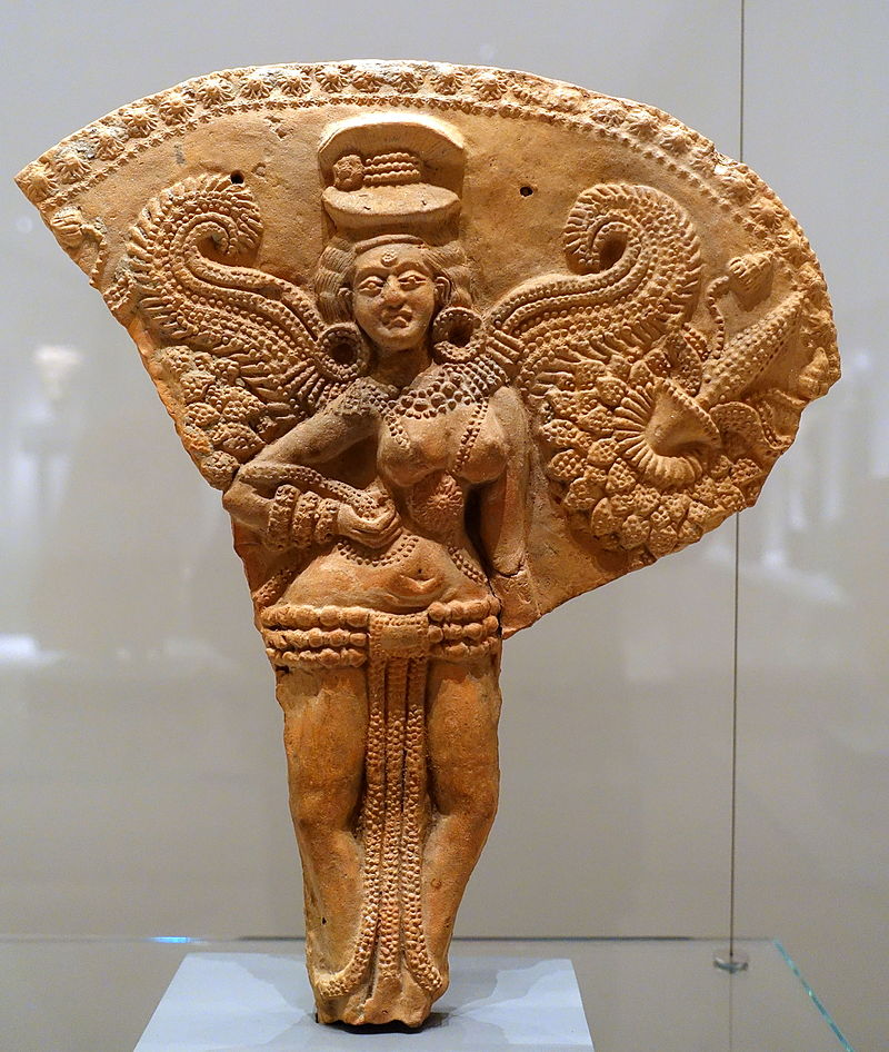 Winged female deity, Chandraketugarh, India, 2nd-1st century BC, terracotta, view 1 - Ethnological Museum, Berlin - DSC01683.JPG