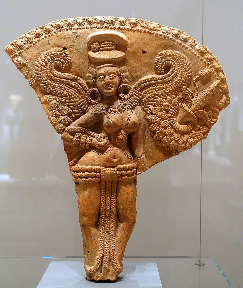 Winged female deity, Chandraketugarh, India, 2nd-1st century BC, terracotta, view 1 - Ethnological Museum, Berlin - DSC01683.JPG