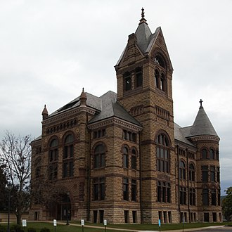 Winona County Courthouse - The Winona County Courthouse from the northwest