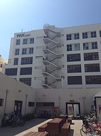 Two of the Wix.com headquarters properties in Tel Aviv Port, Israel