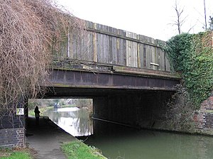 Wolverton railway works - Stephenson bridge made from cast iron girders