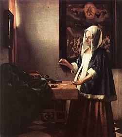 Womanholdingabalance-vermeer