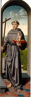 Workshop of Gerard David - Saint Anne Altarpiece - Saint Anthony of Padua (right panel).jpg