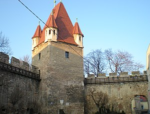 Siege of Wiener Neustadt - Tower at the northwestern corner of Wiener Neustadt's defensive wall