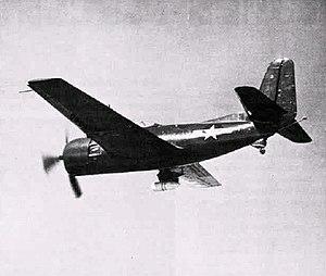 Curtiss XBT2C - XBT2C-1 underside view.