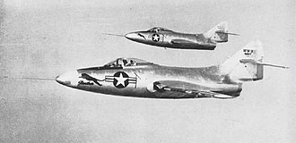 Grumman F9F Panther - The XF9F-2 and XF9F-3 prototypes in 1948