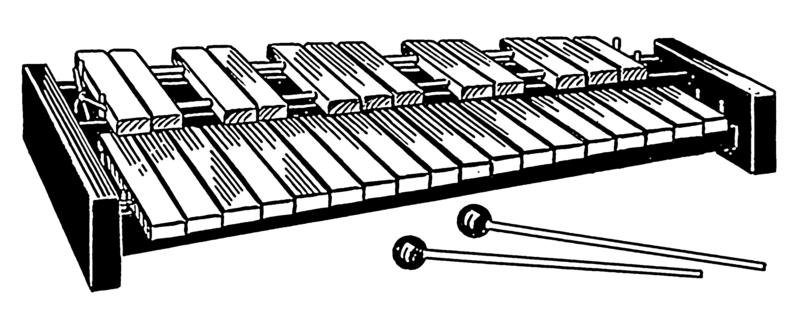 Ксилофон в лесу