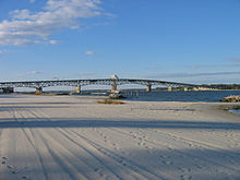 Coleman Bridge To Gloucester Point Virginia Viewed From Yorktown Beach