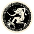 Youth coursing a hare; after tondo from an Attic red-figure kylix (8269449411).jpg