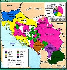Mappa etnica della Jugoslavia nel 1991