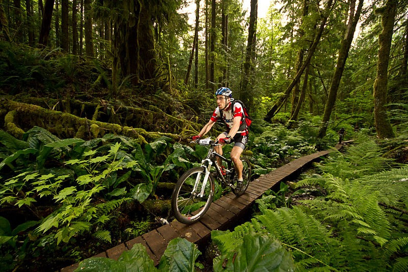 Mountain biking in British Columbia, Canada - source wikipedia.org
