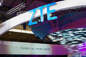 ZTE - ZTE booth at Mobile World Congress 2015 in Barcelona