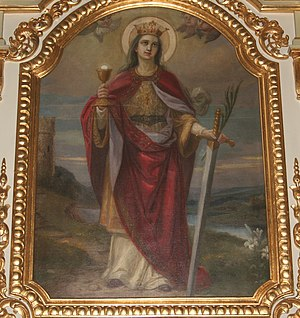 Z obraz świętej Barbary Niedobczyce.jpg