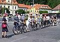 Zbraslav 2011, cyklistický rej, příprava.jpg