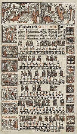 Zentralbibliothek Zürich - Bauernkalender für 1563 - 000008623