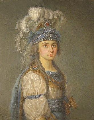 Praskovia Kovalyova-Zhemchugova - Praskovia Kovalyova-Zhemchugova in a scenic costume for Les mariages samnites by André Ernest Modeste Grétry
