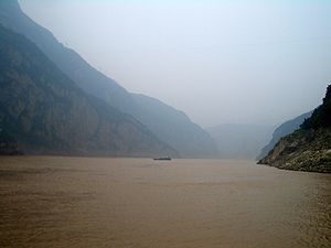 Xiling Gorge - On the Yangtze River (Chang Jiang) in Zigui County, upstream from Maoping.