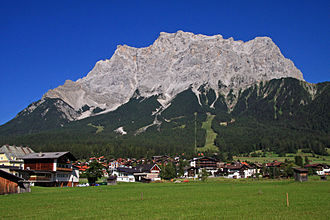 Zugspitze - Zugspitze from Ehrwald, Tyrol, Austria