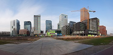 The Zuidas, the city's main business district ZuidasAmsterdamNederland2011.jpg
