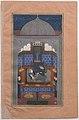 """Bahram Gur and the Indian Princess in the Dark Palace on Saturday"", Folio 23v from a Haft Paikar (Seven Portraits) of the Khamsa (Quintet) of Nizami MET sf13-228-13-23v.jpg"