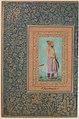 """Portrait of Sayyid Abu'l Muzaffar Khan, Khan Jahan Barha"", Folio from the Shah Jahan Album MET sf55-121-10-5a.jpg"