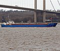 """RMS Vindava"" passing the Humber Bridge - geograph.org.uk - 1721367.jpg"