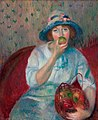 'Girl with a Green Apple', circa 1911, William Glackens, Nova Southeastern University Museum of Art.jpg