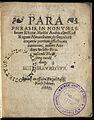 'Paraphrasis, in nonum librum Rhazae medici Arabis clariss' Wellcome L0051936.jpg
