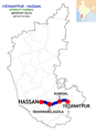 (Hassan - Yesvantpur) Intercity Express route map.png