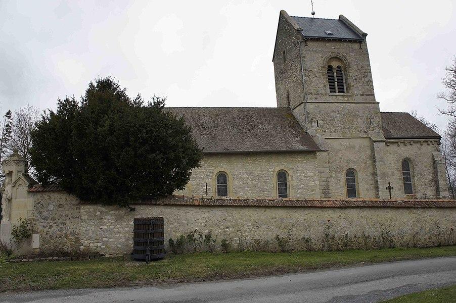 L'église de Pargny - vue du sud