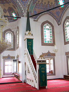 pulpit in the mosque