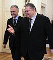 Συνάντηση Αντιπροέδρου Κυβέρνησης και ΥΠΕΞ Ευ. Βενιζέλου με Υπουργό Άμυνας Ιταλίας Mario Mauro (6.12.2013) (11236282685).jpg