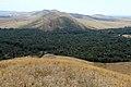 Вид с горы Белентау (296 м) в южном направлении, на урочище Шертучай и гору Урсттау - panoramio.jpg