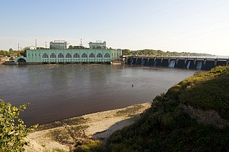 Volkhov - The dam of the Volkhov Hydroelectric Station