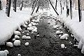Краснопрудский канал зимой, соединяющий Ольгин и Красный пруды.jpg