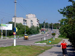 Central part of Myronivka