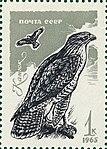 Почтовая марка СССР № 3283. 1965. Хищные птицы.jpg