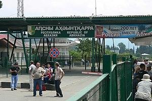Abkhazia–Russia border - Russia-Abkhazia border checkpoint