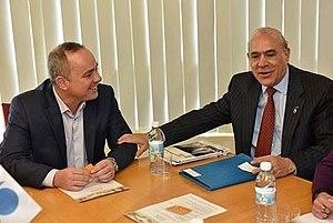 Yuval Steinitz - Secretary-General of the OECD José Ángel Gurría with Steinitz in Jerusalem, January 2016