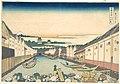冨嶽三十六景 江戸日本橋-Nihonbashi in Edo (Edo Nihonbashi), from the series Thirty-six Views of Mount Fuji (Fugaku sanjūrokkei) MET DP141003.jpg