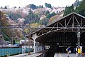 吉野駅から下千本の桜を見上げる View from Yoshino sta. 2014.4.12 - panoramio.jpg